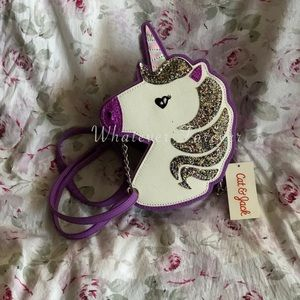 Unicorn colorful girls purse with chain detail